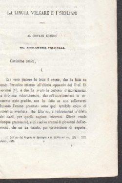 La lingua volgare e i Siciliani